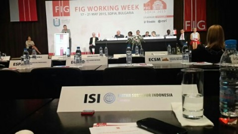 Ikatan Surveyor Indonesia (ISI) Dalam Perhelatan Fig Working Weeks 17-21 Mei 2015, Sofia, Bulgaria